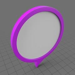 Circular purple speech bubble