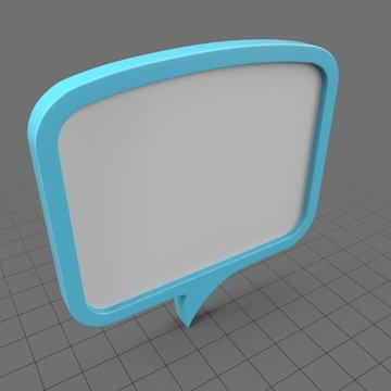 Wide blue speech bubble