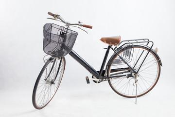 Printed roller blinds Bicycle Old black bike Retro .vintage bike.