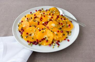 Orange, Pomegranate and Pistachio Salad
