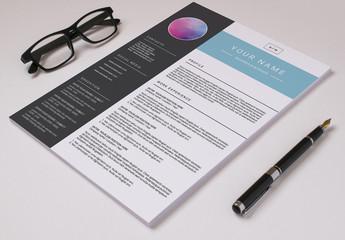 Resume Set with a Dark Gray Sidebar 1