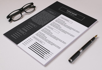 Resume Set with Dark Header and Sidebar  1