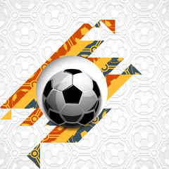 Football soccer ball with abstract strips ball pattern sport vector illustration background