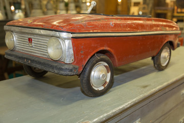 Antique Red Pedal Car for Children