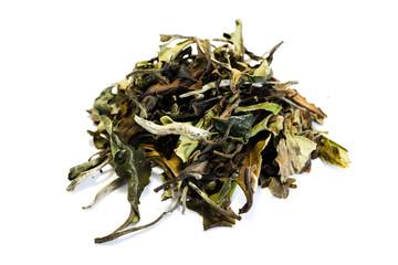 Grüner tee  isoliert freigestellt auf weißen Hintergrund, Freisteller