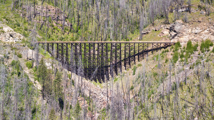 Train trestle on the Kettle Valley Railway near Kelowna, Canada