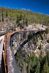 Train trestle on the Kettle Valley Railway near Kelowna, Canada