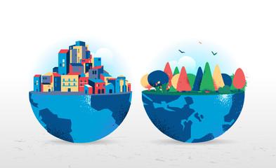 Le due facce del pianeta Terra
