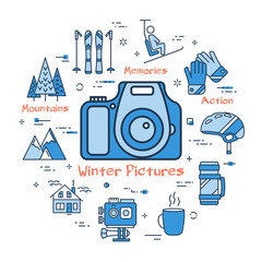Blue Winter Pictures Concept