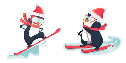 penguin winter sport set 1