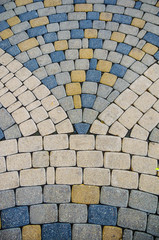 Stock photo of the cobblestone pattern