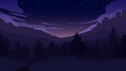 forest landscape illustration