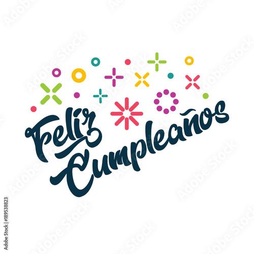 Feliz Cumpleanos Spanish Happy Birthday Greeting Invitation Card
