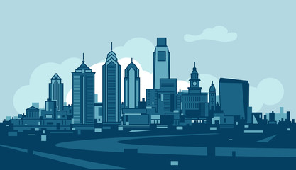 Philadelphia skyline Wall mural