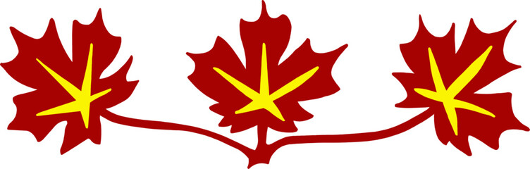 Red Maple Leaves - Canada - Canadian Symbol