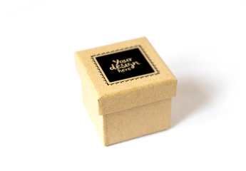 Cardboard Gift Box Mockup 2