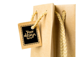 Paper Bag Gift Tag Mockkup 1