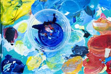 Painters palette . The artist%27s palette