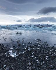 Glacial coastal arctic landscape at Jokulsarlon, Iceland, Arctic Regions.