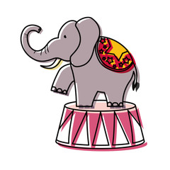 cartoon circus animals design