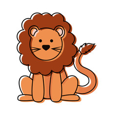cartoon lion icon image