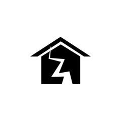 earthquake and house icon. Elements of real estate transactions icon for concept and web apps. Illustration  icon for website design and development, app development. Premium icon
