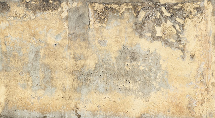 Ochre andg Greige grunge cement background with textures and weathering - very textured