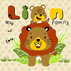 lion family cartoon