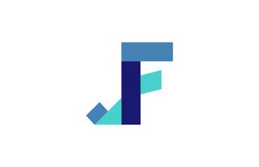 JF Ribbon Letter Logo
