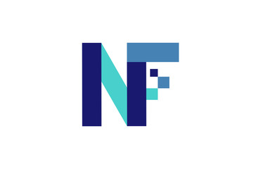 NF Digital Ribbon Letter Logo