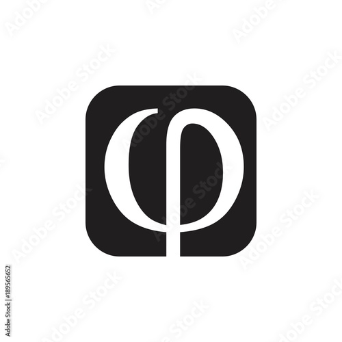 Rho Letter Greek Symbol Logo Vector Stock Image And Royalty Free