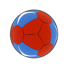 Abstract soccer object