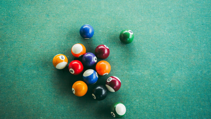 billards cloth balls