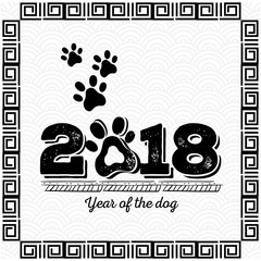 2018 chinese new year year of the dog design