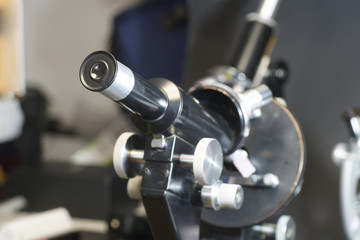 Detail of a microscope