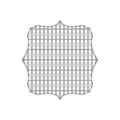 line square with pattern graphic seamless background style
