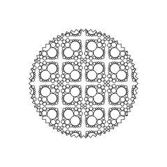 line circle with pattern graphic seamless background design