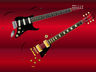 Abstract Classic Guitars