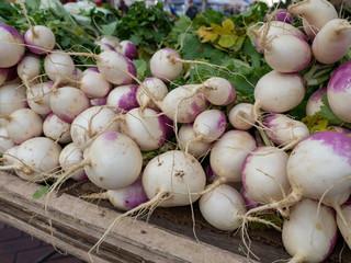 Turnips at a farmer's market