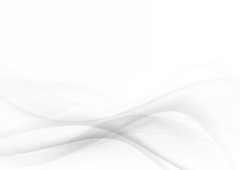 Curve and blend gray and white abstract background 001