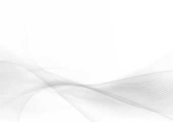 Curve and blend gray and white abstract background 004