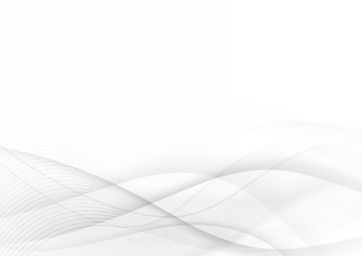 Curve and blend gray and white abstract background 003