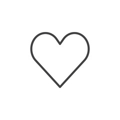 Casino heart suit line icon, outline vector sign, linear style pictogram isolated on white. Symbol, logo illustration. Editable stroke