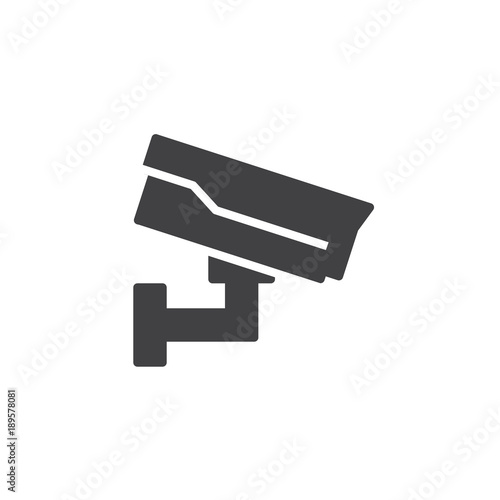 Casino Cctv Icon Vector Filled Flat Sign Solid Pictogram Isolated