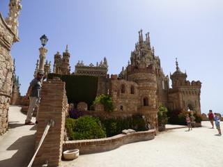 Castillo de Colomares en Benalmádena, Málaga, (Andalucia,España) en  homenaje a Cristóbal Colón y el Descubrimiento de América.