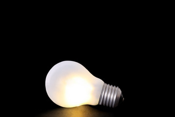 Led bulb isolated on a dark background