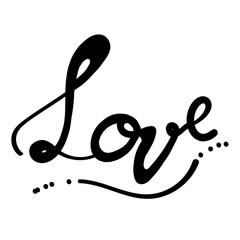LOVE Handwritten ink