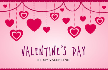 St. Valentine's Day. Love & Hearts. Simple & Sweet Vector card, background, graphic, illustration, banner AI / EPS 10 vol. 14