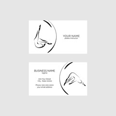 Pilates business card vector template