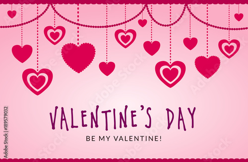 St. Valentine\'s Day. Love & Hearts. Simple & Sweet Vector card ...
